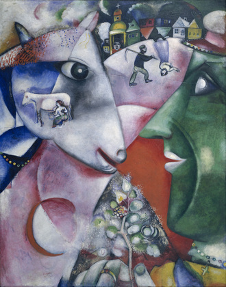 Marc Chagall, 1911, I and the Village, oil on canvas, 192.1 x 151.4 cm, Museum of Modern Art, New York