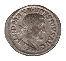 Maximinus denarius - transparent background