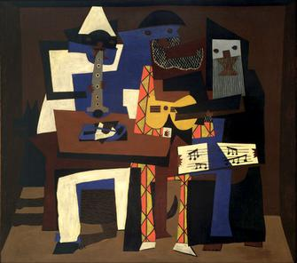 Picasso three musicians moma 2006