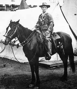 Calamity Jane on a horse