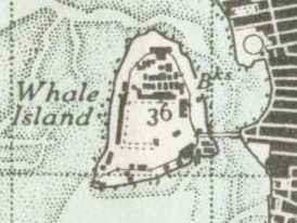 Whale Island, Hampshire map 1945