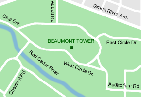 MSU Beaumont Tower map.png