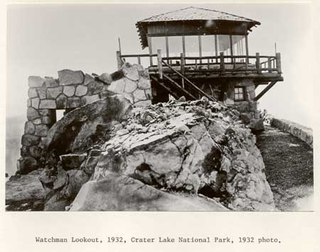 Watchman Lookout at Crater Lake National Park 2C 1932