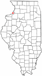 Location of Rapids City, Illinois