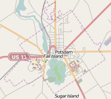 Potsdam, New York from OpenStreetMap