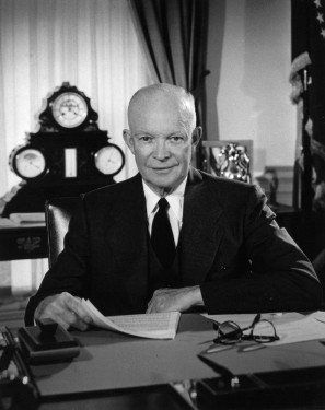 Eisenhower in the Oval Office
