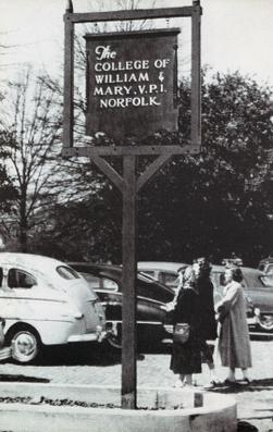 Original sign from Old Dominion University