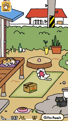 Neko atsume screenshot