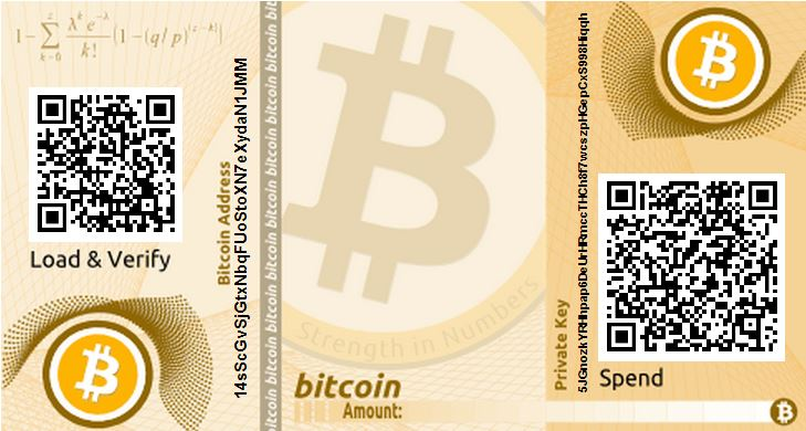Bitcoin paper wallet generated at bitaddress