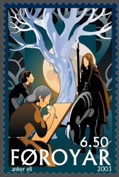 Faroe stamp 431 The Norns and the Tree