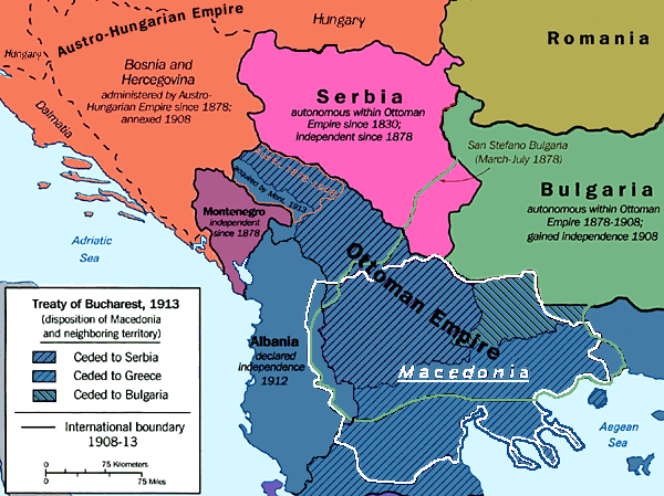 Macedonia 1913 map