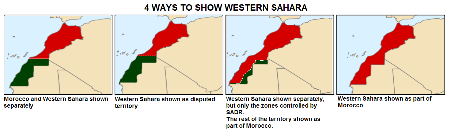 Maps of Western Sahara