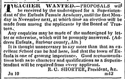 1844.06.18.charleston.courier.advert.for.eufaula.female.academy