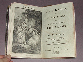 Evelina vol II 1779