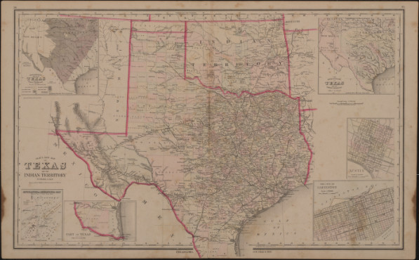 Gray's new map of Texas and Indian Territory