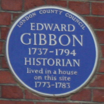 Blue Plaque - Edward Gibbon