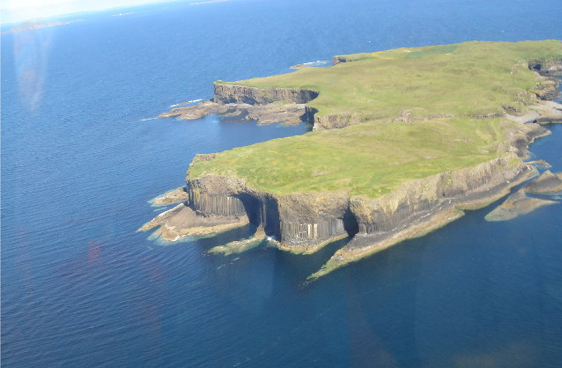 Staffa from the air