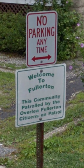 Welcome to Fullerton sign