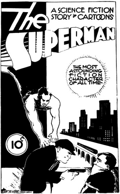 Siegel Shuster Superman 1933 concept