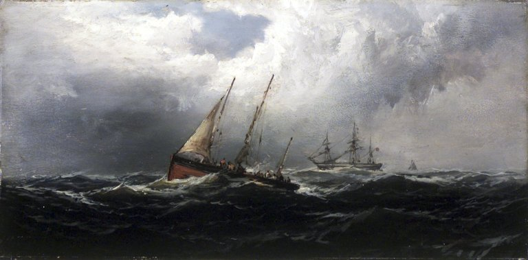 Brooklyn Museum - After a Gale--Wreckers - James Hamilton - overall
