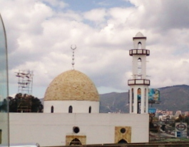 View from the local Transmilenio of the Abou Bakr Alsiddiq Mosque 2013