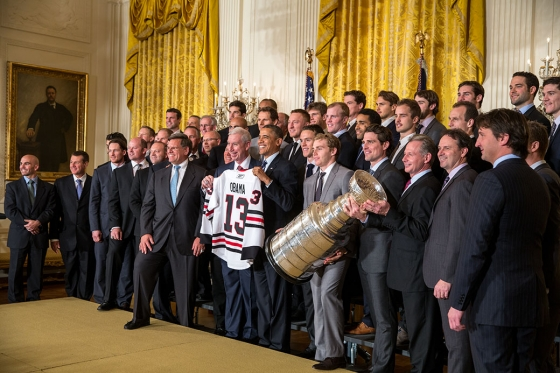 Chicago Blackhawks at White House 2013
