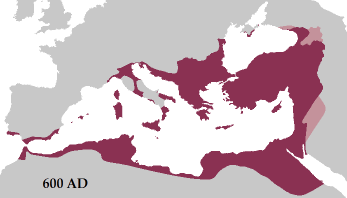 Roman Empire 600 AD