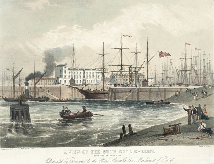 A view of the jubilee dock, Cardiff, from the eastern side