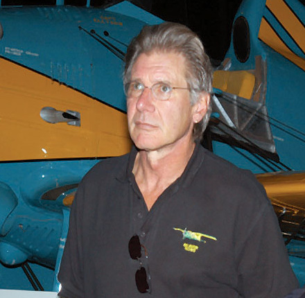 Actor Harrison Ford touring the Air Force Museum in Dayton, Ohio (cropped)