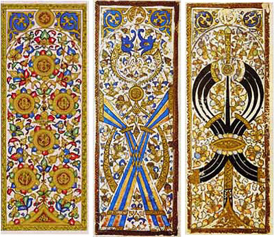 Card designs from the Mamluk Sultanate of Egypt c. 1500