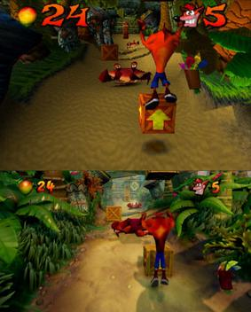 Crash Bandicoot N Sane Trilogy comparison