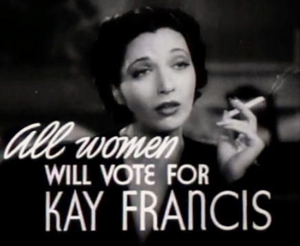 Kay Francis in First Lady trailer