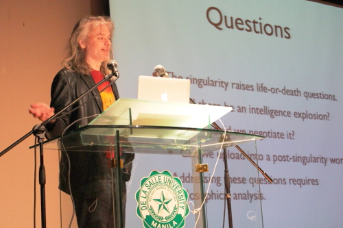 David Chalmers, delivering a talk at De La Salle University-Manila, March 27, 2012
