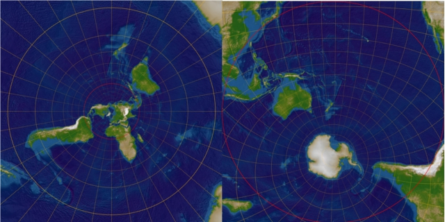 Polar stereographic projections