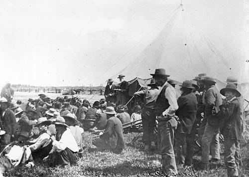 David Laird explaining Treaty 8 Fort Vermilion 1899 - NA-949-34