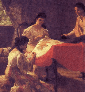 Amorsolo's The Making of the Philippine Flag