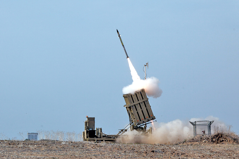 Flickr - Israel Defense Forces - Iron Dome Intercepts Rockets from the Gaza Strip