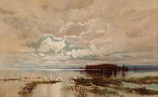 William Piguenit - The Flood in the Darling 1890