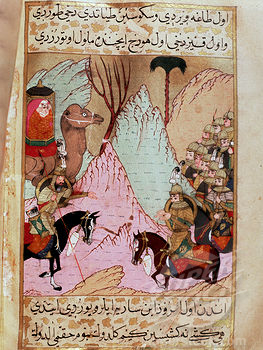 Muhammad's widow, Aisha, battling the fourth caliph Ali in the Battle of the Camel