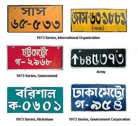 Number plates in Bangladesh