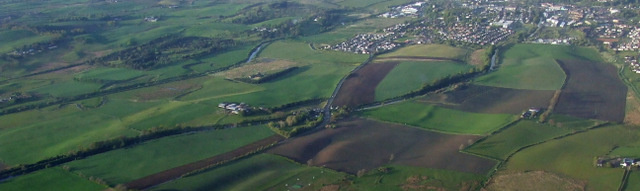 Antonine Wall and Glasgow Bridge from the air (geograph 2965671)