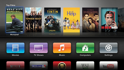 The third (and current) Apple TV interface