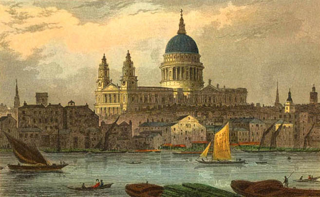 St Paul's by Thomas Hosmer Shepherd (early 19th century)