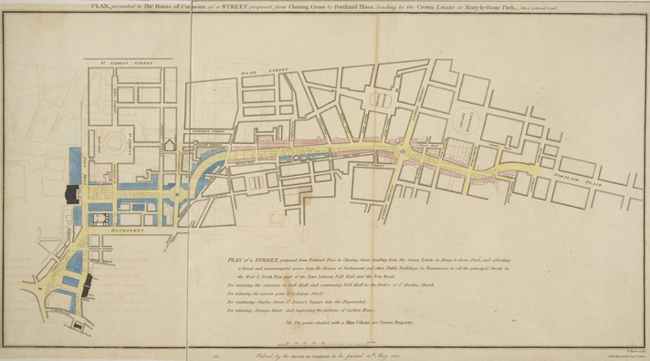 Regent St proposal published 1813
