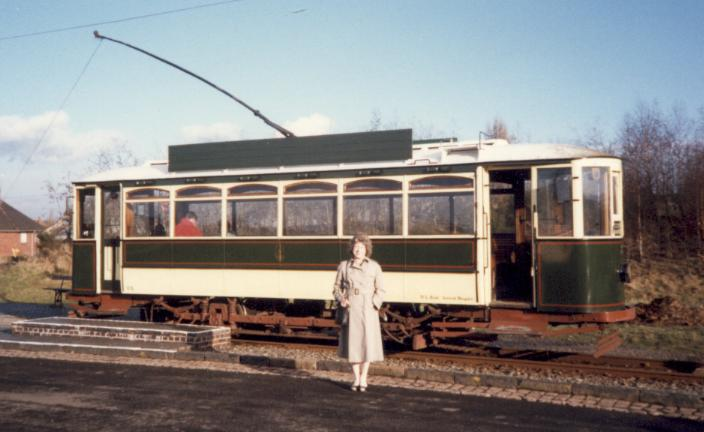 Dudley Tram No. 5 at Black Country Museum 1990