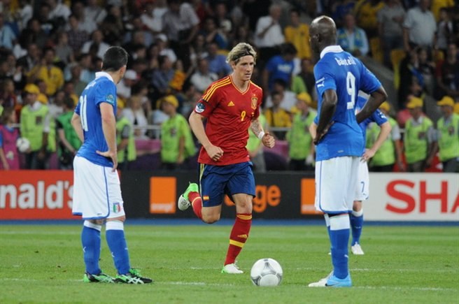 Di Natale, Torres and Balotelli Euro 2012 final