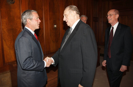 President Bush meets with First Presidency of LDS church May 2008