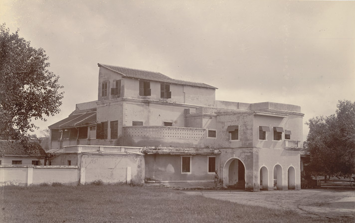 General Wellesley's House, Mysore (1890s), unknown photographer, from the Curzon Collection's 'Souvenir of Mysore Album'
