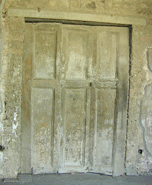 Plaster cast of folding doors, Pompeii