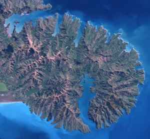 Banks Peninsula from space